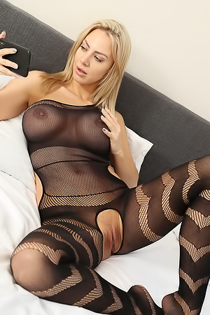 Nathaly Cherie in Body Stocking